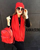 Красный маленький рюкзак из экокожи