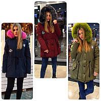 7d644bdc8c1 Топ продаж Женская теплая зимняя парка с мехом (3 цвета)
