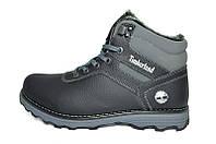 Мужские  зимние кожаные ботинки Timberland Anser Grey line, фото 1