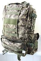 Тактический армейский походный супер-крепкий рюкзак на 55л пиксель. Армия,рыбалка,туризм,охота,спорт