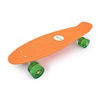 """Penny 22"""" Penny Board светящиеся колеса! Оранж"""