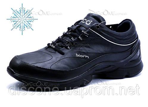 Зимние кроссовки, мужские, на меху,  черные