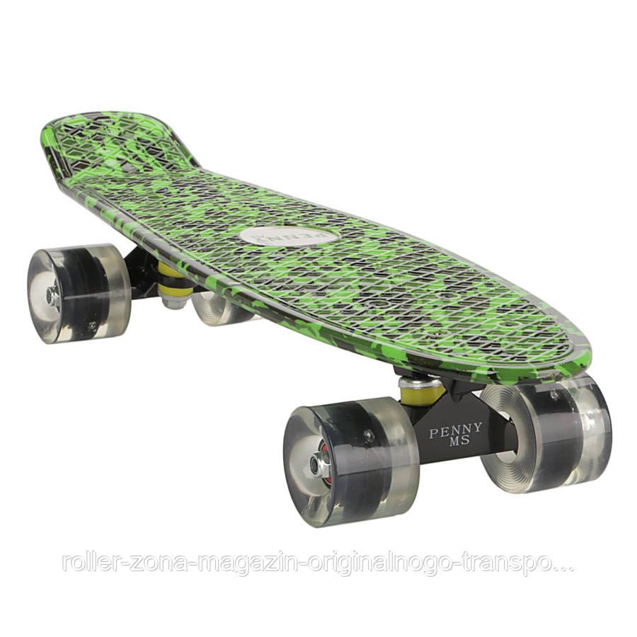 "Penny 27"" Penny Board Longboard светящиеся колеса! Камуфляж"