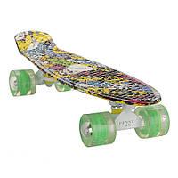 """Penny 27"""" Penny Board Longboard светящиеся колеса! Принт"""