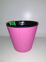 Горщик Ібіс рожевий 13 см з подвійним дном ОРА АГРО-ЕКО, фото 1