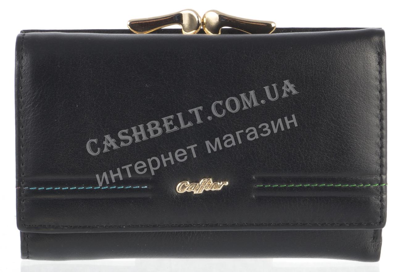 Небольшой элитный женский кожаный кошелек высокого качества CAFFIER art. СA93-2063A черный