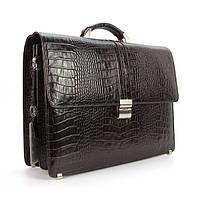 Мужской коричневый кожаный портфель Desisan, фото 1