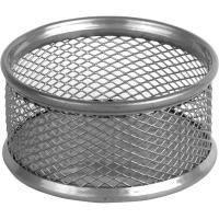 Подставка для скрепок Axent 80x80x40мм, wire mesh, silver (2113-03-A)