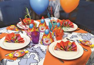 Скатерти и салфетки для детских тематических праздников