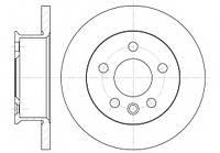 Гальмівний диск передній суцільний (R14, 260x16mm) VW Transporter T4 90-96 6414.00 REMSA (Іспанія)