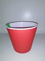 Горщик Ібіс червоний 13 см з подвійним дном ОРА АГРО-ЕКО, фото 1