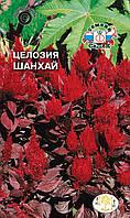 Целозия Шанхай (перистая, малиновые цветки, т.-бордовый лист) (Евро, 0,2)