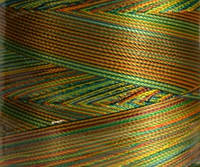 Нитка шелк для машинной вышивки embroidery 120den.меланж №D-03 3000 ярд