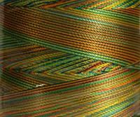 Нитка шелк/ embroidery 120den.меланж №D-03 3000 ярд