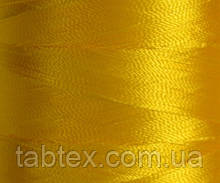 Нитка шелк для машинной вышивки embroidery 120den. №D-131 желт. 3000 ярд