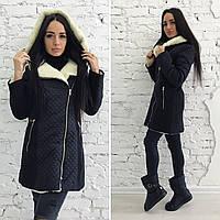 Зимнее женское кашемировое пальто на меху от производителя