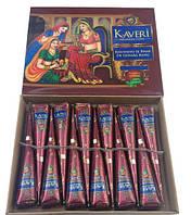 Хна в конусе коричневая натуральная TM Kaveri, фото 1