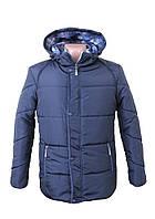 Мужские куртки большого размера батал (синяя и черная) 54-60 зимние El&KEN 227 Турция