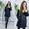 Зимнее стильное женское кашемировое пальто на меху овчина