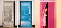 Антимоскитная дверная сетка на магнитах,Антимоскитная ,москитная сетка, 90х210см,100х210см,110х210см,120х210см