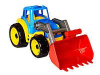 Детский  игрушечный  трактор  с  большим   ковшом  для  мальчика