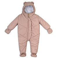 Детский зимний бежевый комбинезон (0-6 мес) Комбинезон для новорожденных