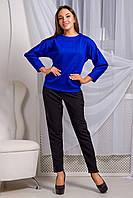 Стильный и теплый свитшот Микс свободного кроя из структурного трикотажа косичка 44-50 размера, фото 1