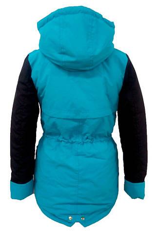 Детская демисезонная куртка парка на девочку, р.36, фото 2