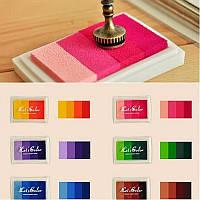Чернильные подушечки для скрапбукинга, штампов (градиент), разные цвета