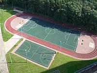 Строительство мини-футбольного поля  42м х 22м (покрытие-искусственная трава)