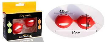 Вагинальные шарики для укрепления мышц влагалища .Красные.Шары Кегеля.