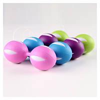 Вагинальные шарики  розовые для укрепления мышц влагалища .Шары Кегеля.