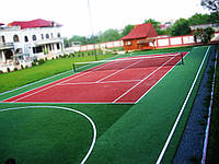 Строительство теннисного корта 24м x 11м