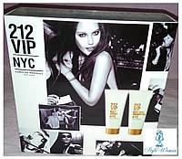 Подарочный набор 212 VIP Carolina Herrera, гель для душа и лосьон для тела женски, 200мл