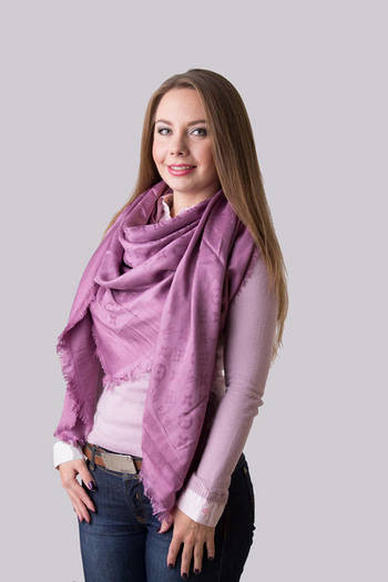 Шаль Louis Vuitton (Луи Витон) розовый