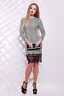 Стильное платье с низом из кружева, фото 1