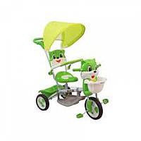 Велосипед 3-х колёсный Baby mix  с навесом котик зеленый