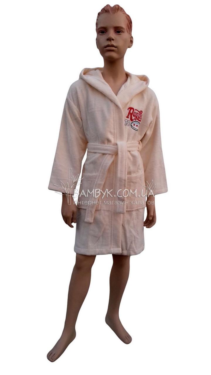 """Халат для мальчика бамбуковый Piramit с вышивкой """"Rugby"""""""