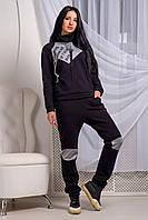 Теплый женский спортивный костюм Барса турецкий трикотаж с начесом 44-52 размера