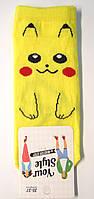 """Носки с """"Покемоном"""" желтые короткие женские, фото 1"""