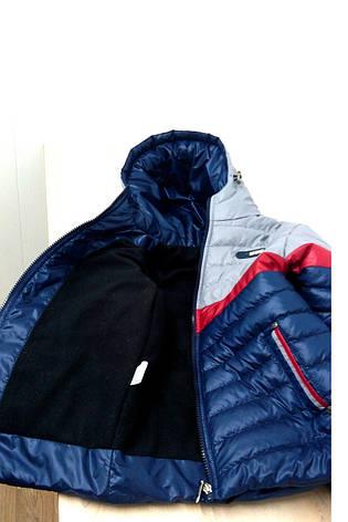 Детская демисезонная куртка на мальчика на флисе, р.26, фото 2