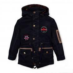 Детская демисезонная парка куртка на мальчика,116-122