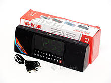 Портативная колонка WS-1515BT Bluetooth, часы, фото 2
