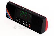 Портативная колонка WS-1515BT Bluetooth, часы, фото 3