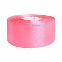 Атласная лента розовая 5см х 36 ярдов