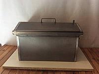 Коптильня из черного металла с крышкой домиком, фото 1