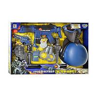 Детский полицейский набор с каской, автоматом, маской и т.д.  (33540)
