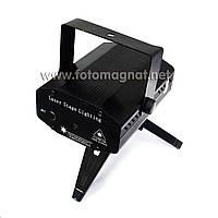 Диско Лазер S-D09 чёрный (Лазерный проектор, цветомузыка, стробоскоп)