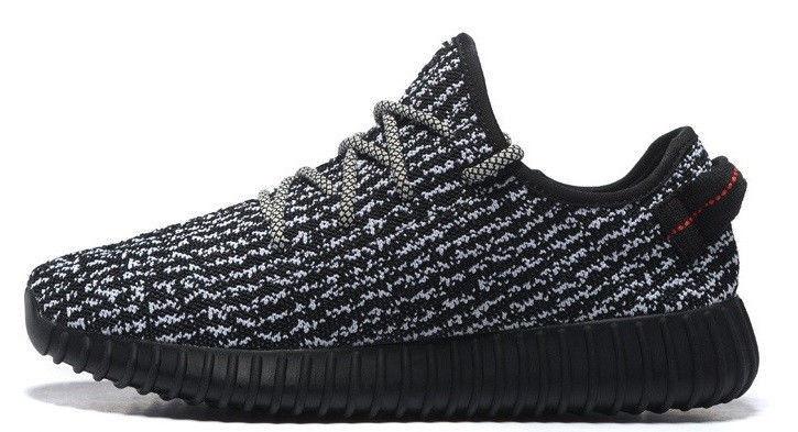 Мужские кроссовки Adidas Yeezy Boost 350 Kanye West (Адидас Изи Буст 350) черные