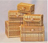 Набор шкатулок из бамбука 5шт 821-1